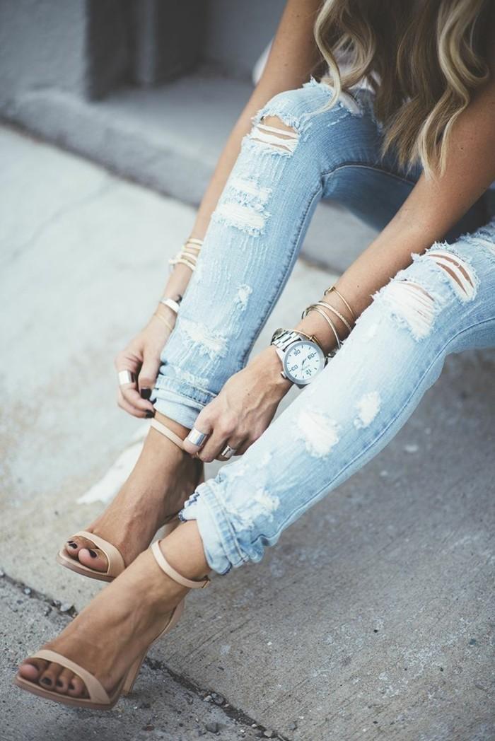 skinny-jeans-damen-jeans-mit-rissen
