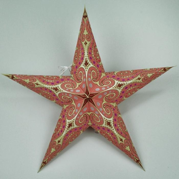 123 super ideen weihnachtssterne basteln - Deko weihnachten basteln ...