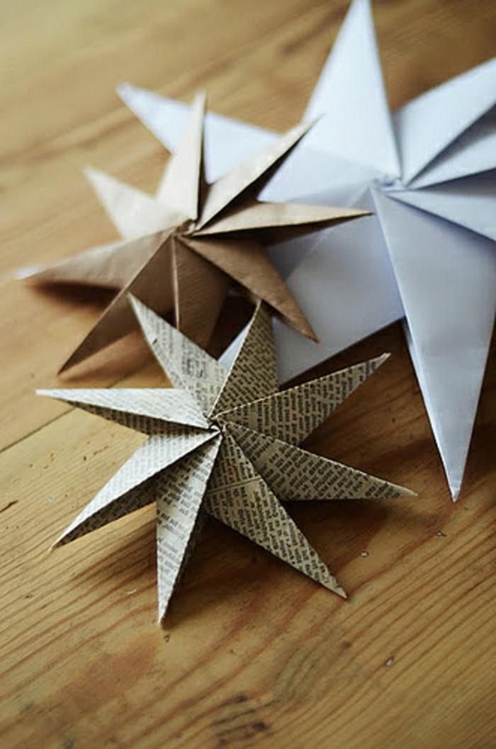 stern-basteln-ideen-zum-weihnachten-weiße-gestaltung