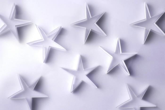 wunderschöne kleine sterne falten - idee für weihnachten