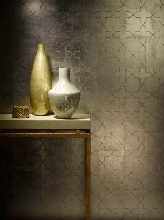 stylische-tapeten-moderne-tapeten-glänzende-goldene-tapete