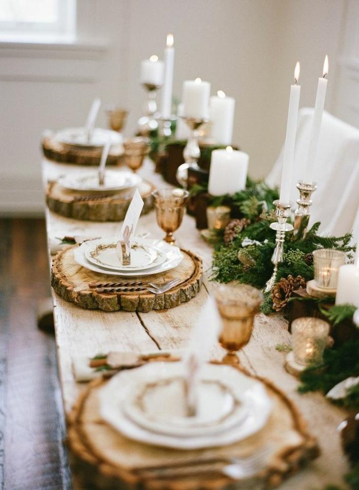 40 leichte schnelle und g nstige tischdekoration ideen for Tischdekoration weihnachten dekoration