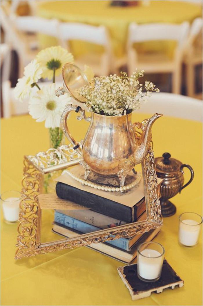 vintage-tischdeko-ideen-Bücher-schöne-tischdeko