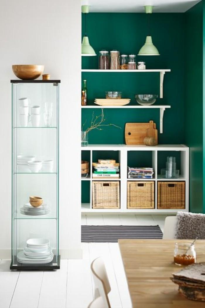 wände-streichen-ideen-wandgestaltung-küche-grün