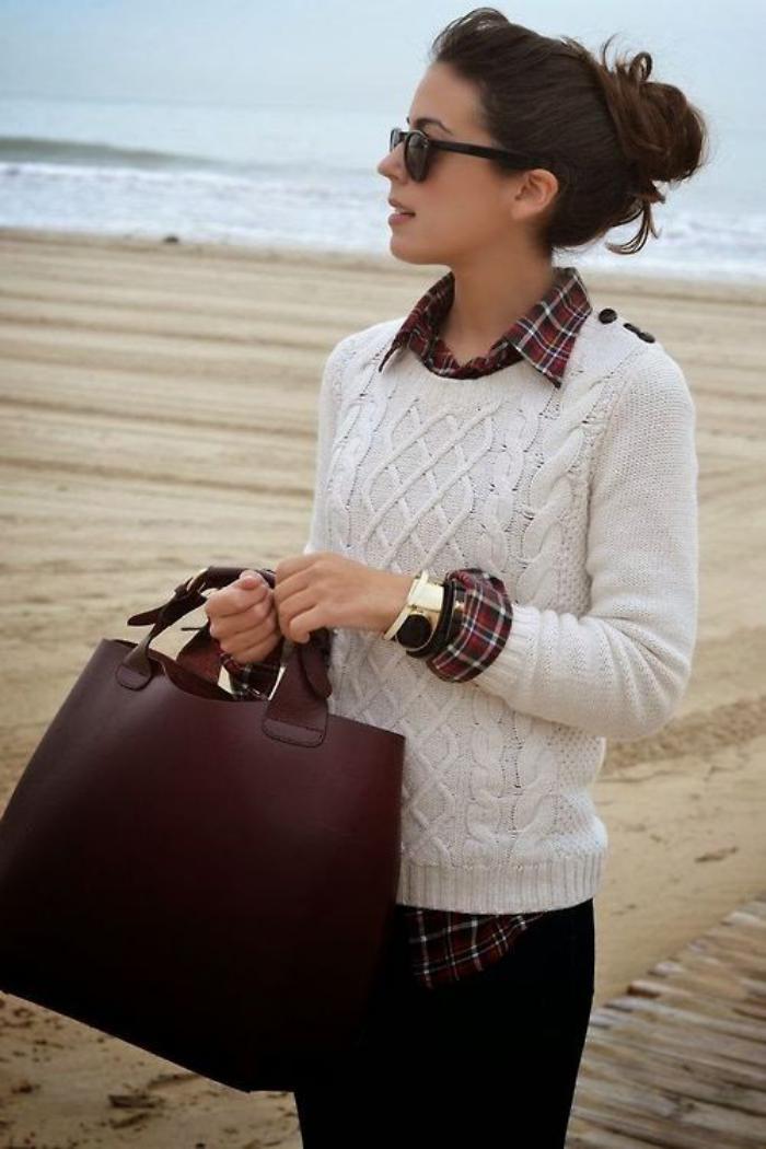 weißer-irischer-pullover-für-Damen