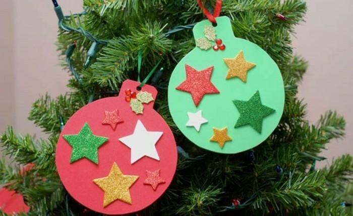 weihnachten-geschenkideen-selbstgemacht-super-einfache-deko-für-tannenbäume