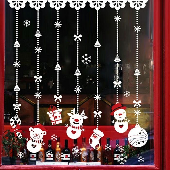 weihnachts-fensterbilder-kleine-lustige-weihnachtsmänner