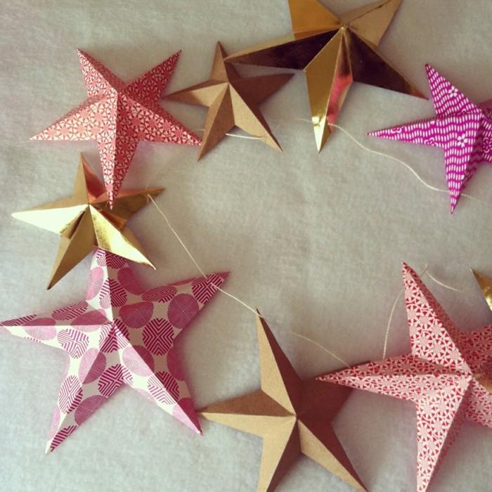 weihnachtsbasteleien-sehr-schöne-rosige-farben-super-sterne