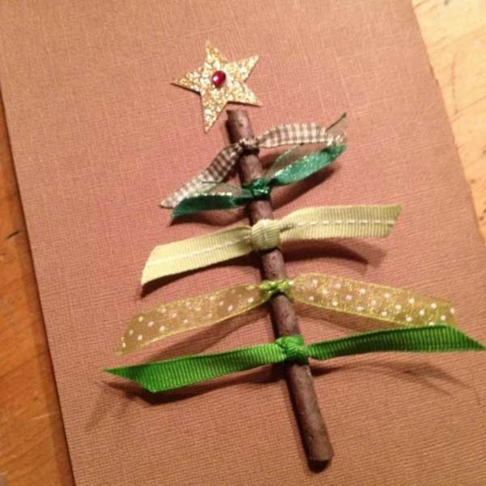 Card Christmas Tree Craft