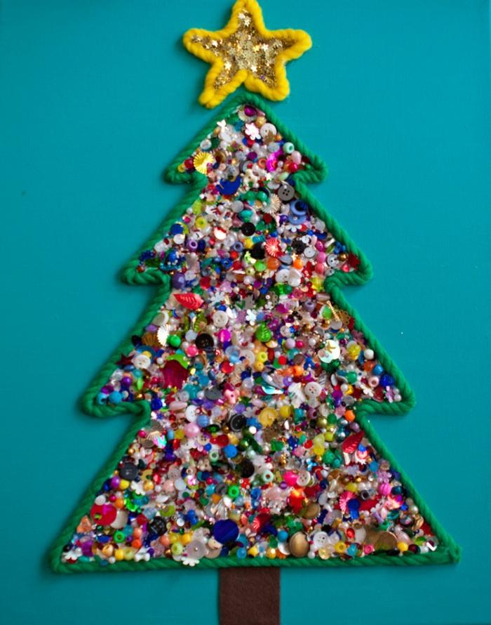 Weihnachtsbasteln mit kindern 105 tolle ideen for Arbol de navidad mural