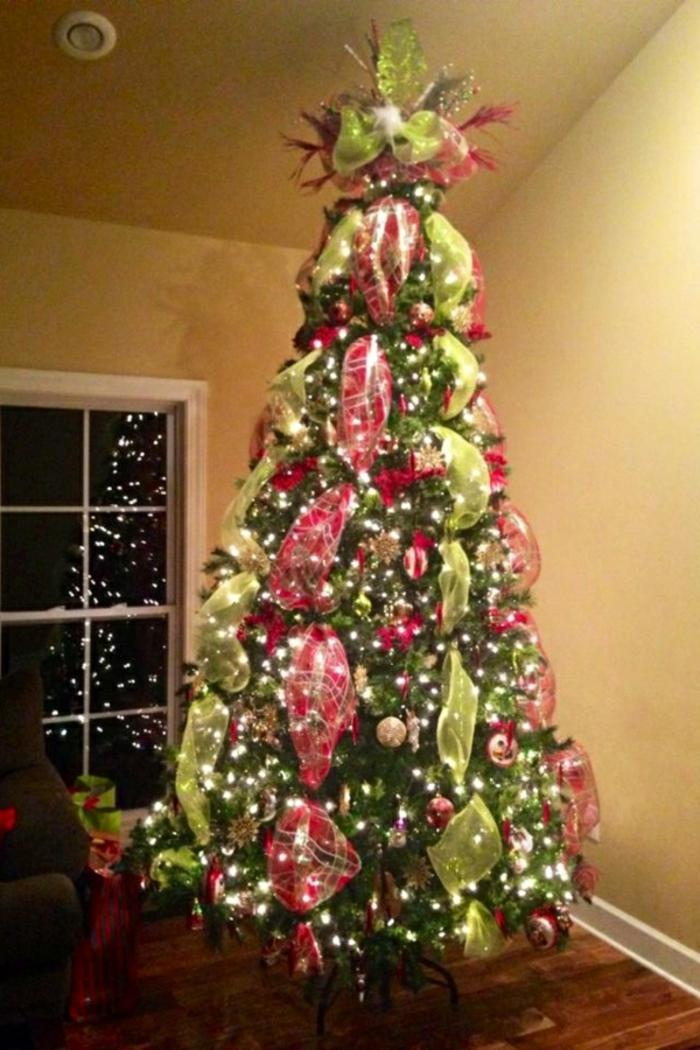 Weihnachtsbaum schm cken 40 einmalige bilder zum fest - Weihnachtsbaum rot silber ...