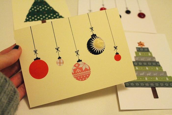 Weihnachtsbasteln mit kindern 105 tolle ideen - Originelle weihnachtskarten ...