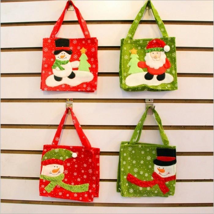 weihnachtsgeschenke-selber-basteln-hängende-taschen-tolle-modelle