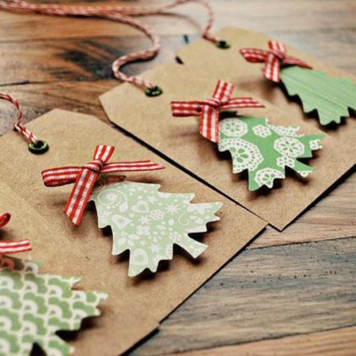 weihnachtsgeschenke-selber-basteln-unikale-karten-mit-weihnachtsbäumen