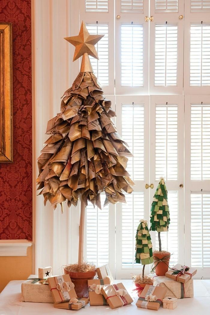weihnachtsgeschenke-selbst-gemacht-herrliches-modell-tannenbaum-auf-dem-tisch