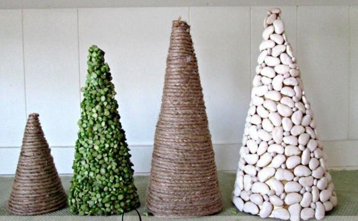 weihnachtsgeschenke-selbst-gemacht-moderne-tannenbäume-als-dekoration