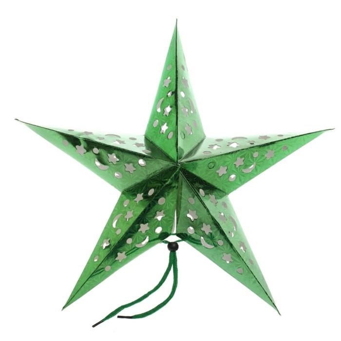 weihnachtssterne-basteln-schlichtes-grünes-design