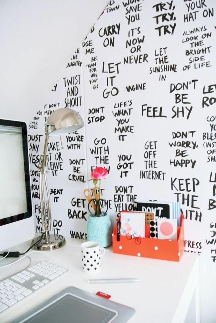 wohnung-einrichten-tipps-für-Arbeitszimmer-Ausstattung-kreative-Wandgestaltung
