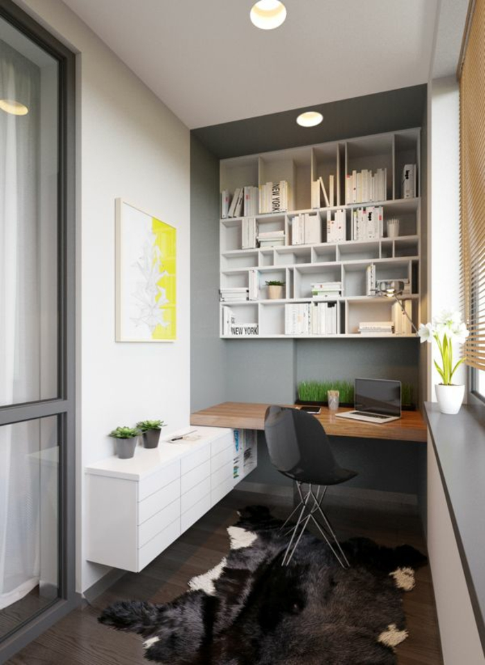 wohnung-einrichten-tipps-fürs-Arbeitszimmer-viele-Topfpflanzen-moderne-einrichtungsideen