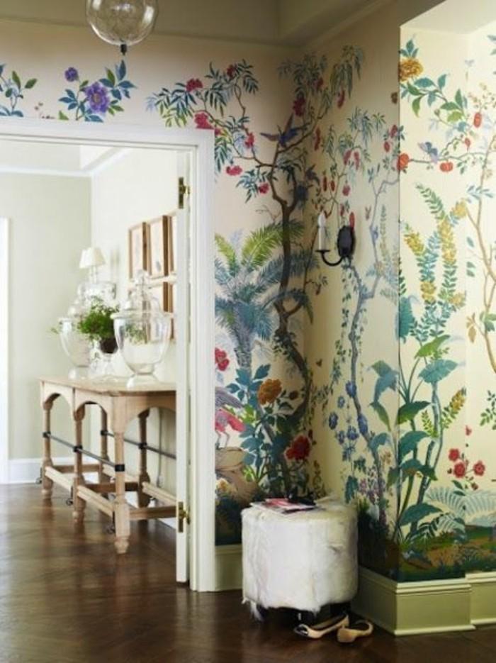 wunderschöne-bunte-tapeten-vintage-tapeten-design