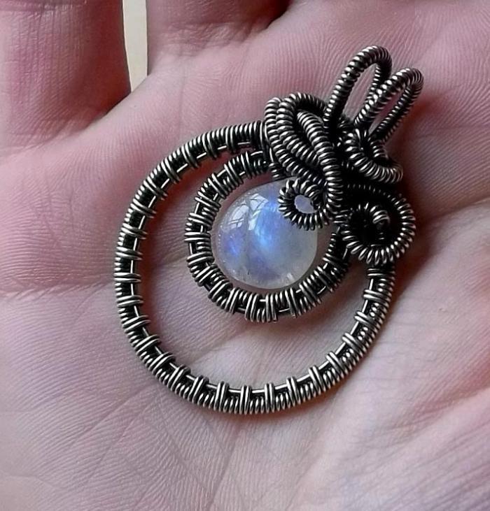 wunderschönes-Mondstein-Bijou-effektvolles-Modell-mondstein-ring