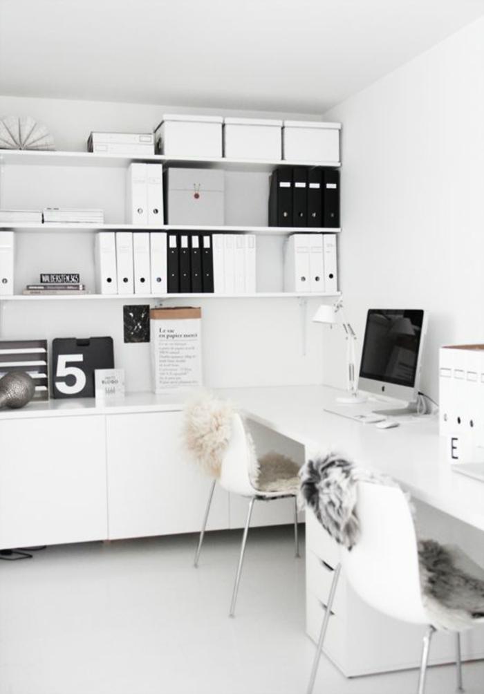 zimmer-einrichten-ideen-weißes-Arbeitszimmer-Interieur