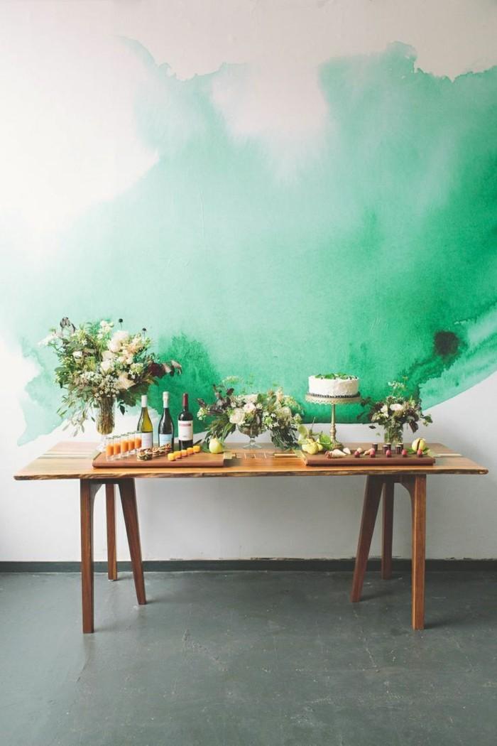 zimmer-streichen-ideen-originelle-grüne-Wandgestaltung