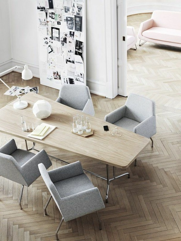 Büromöbel-besprechung stisch--hell-holz-polster-sessel