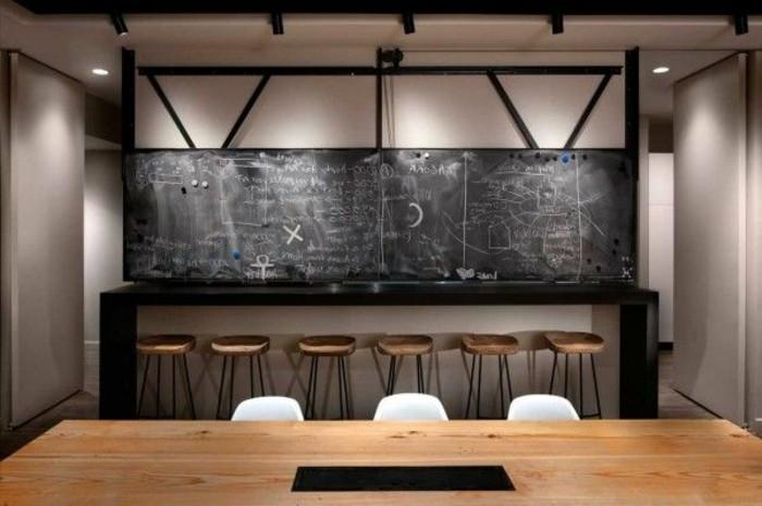 Büromöbel-besprechung stisch-holz-und-hocker
