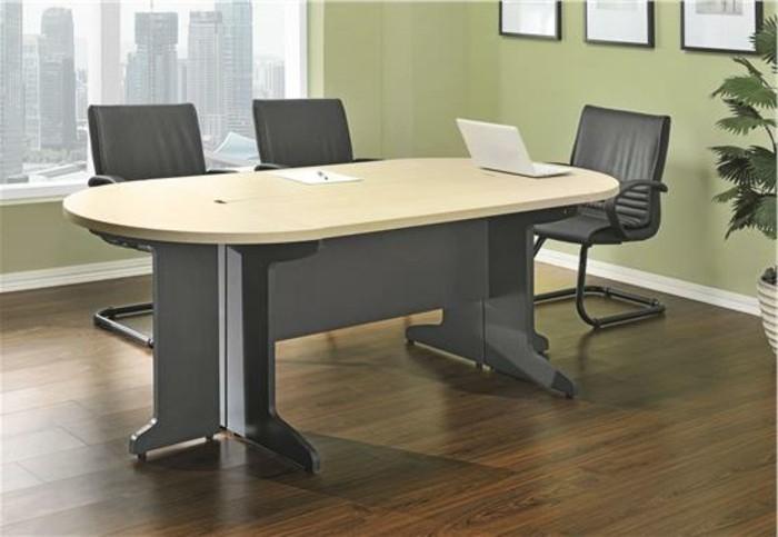 Büromöbel-besprechung stisch-leder-stühle