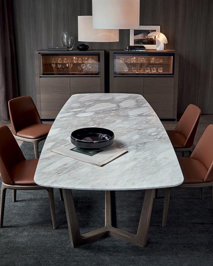 Büromöbel-besprechung stisch-marmor-tischplatte-braun