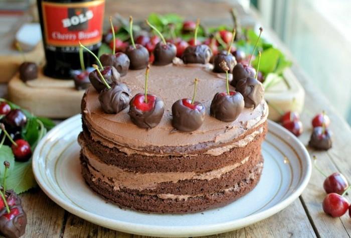 Bester-Schokoladen kuchen-mit-viele-kirschen