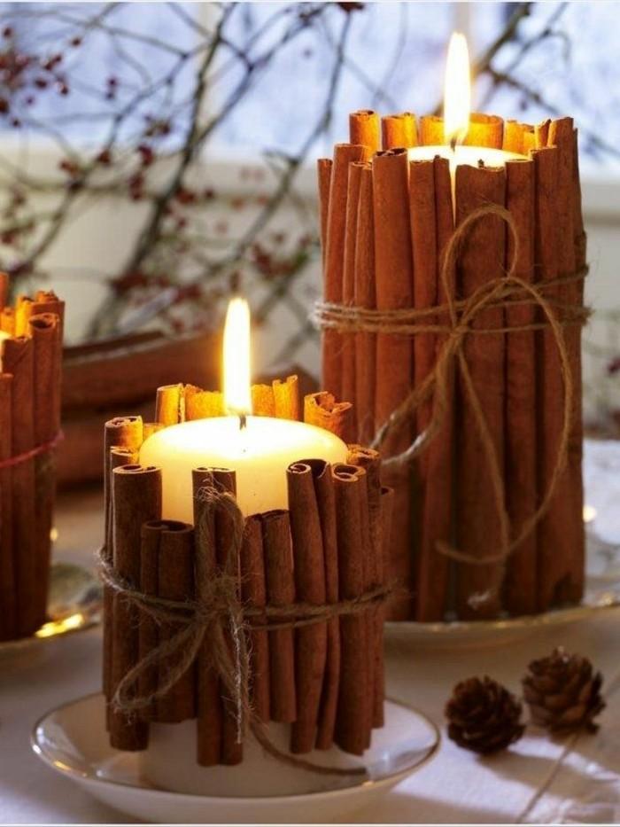 DIY-Idee-Kerzenhalter-aus-Zimt-Schnur-Kerzen-Zapfen-Weihnachtsdekoration