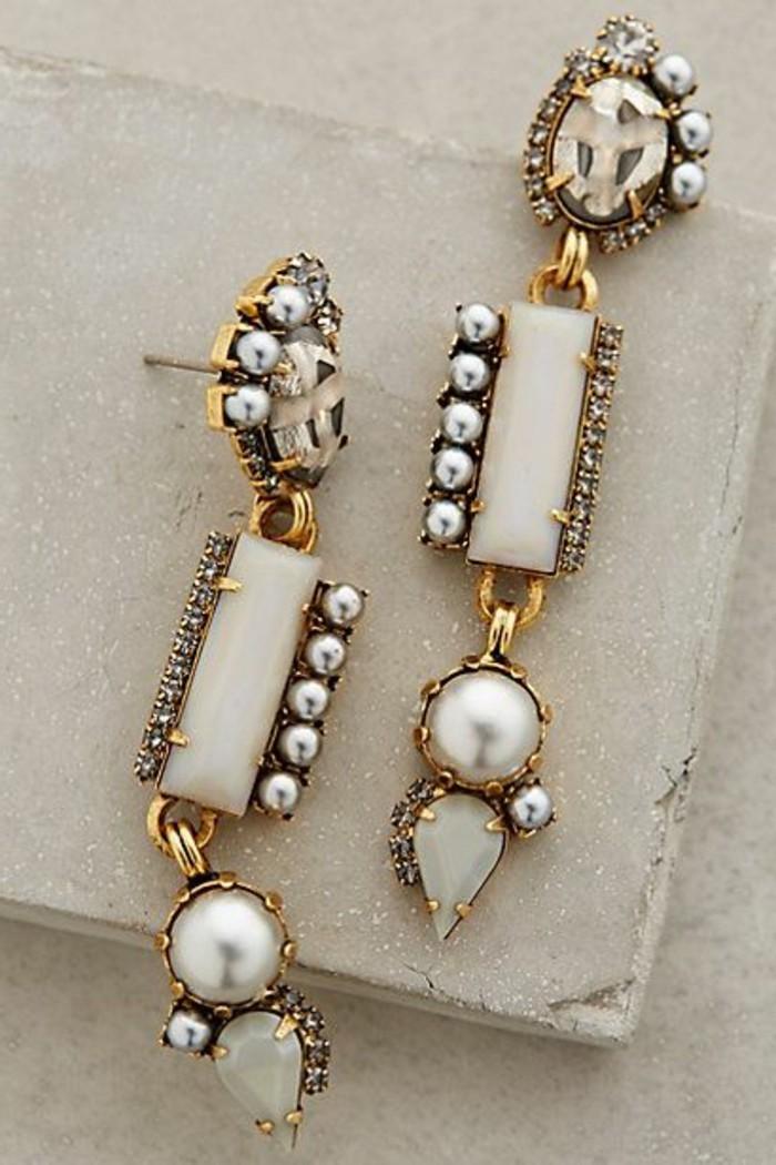 Damenschmuck-schickes-Modell-lange-Ohrringe