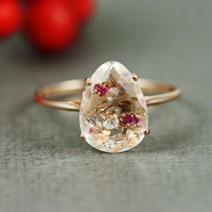 Designer-Ringe-Pink-Gold-weißer-Quartz-Rubin