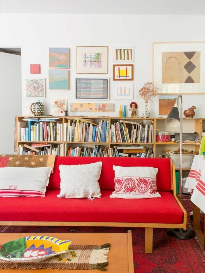 rotes sofa 80 fantastische modelle