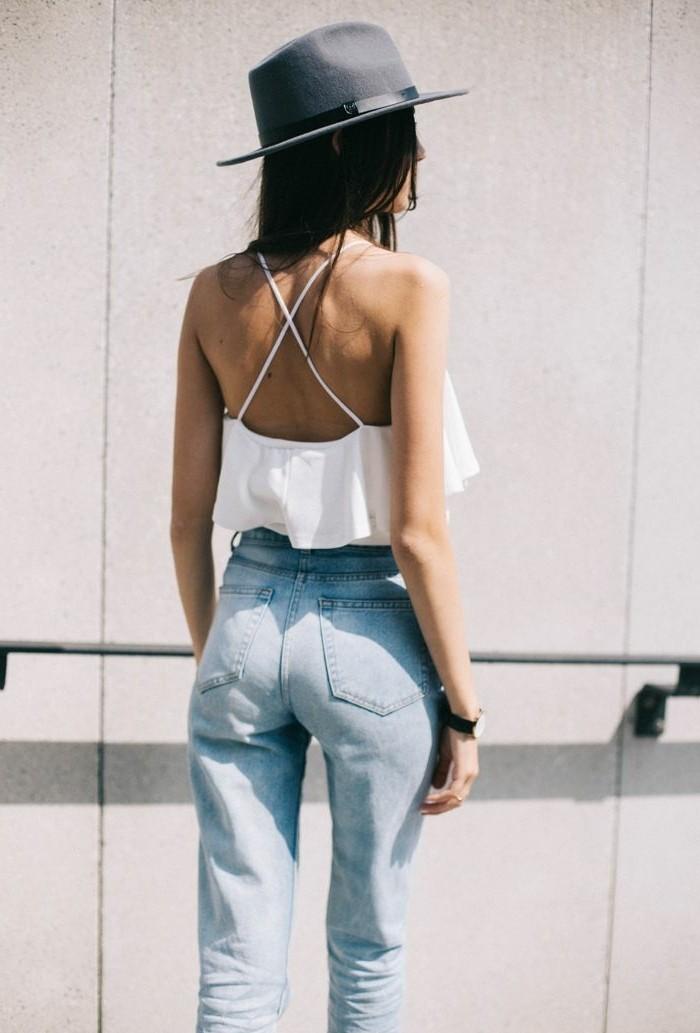 Filzhut-sommer-damen-mode-jeans