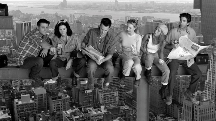 Friends-schwarz-weißes-cooles-Foto