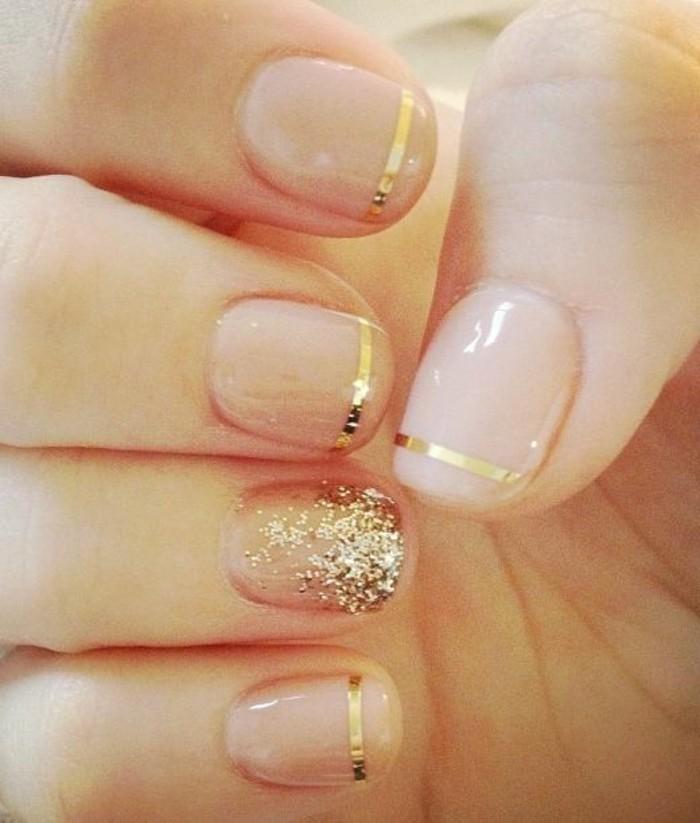 Glitzer-nägel-designs-gold-