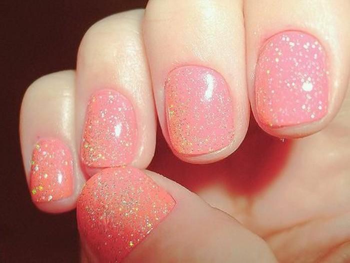 Glitzer-nagellack-super-süß-pink
