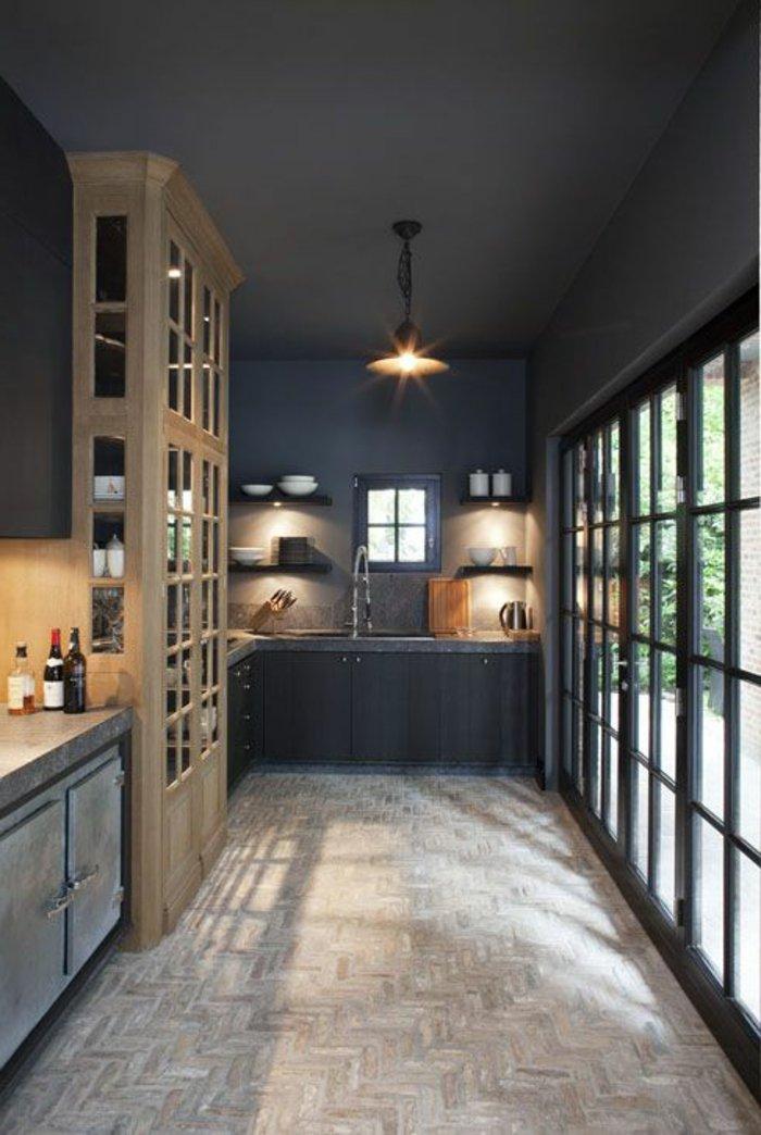 Küche-streichen-Ideen-Wandfarbe-Anthrazit