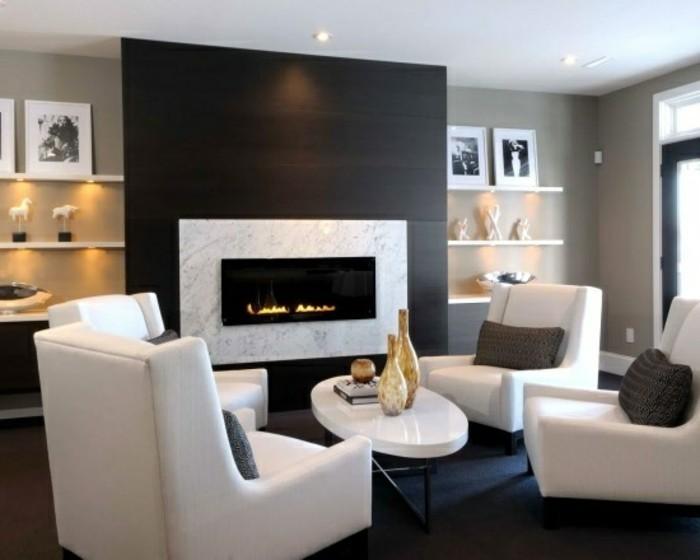 Kamine-marmor-einbauen-weiße-lounge-möbel