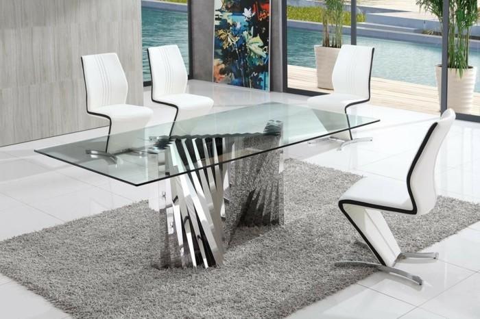 Konferenztische-glastischplatte-metal-weiße-stühle