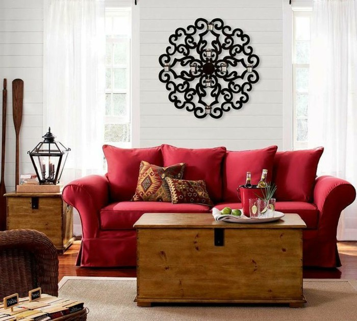 Rotes sofa 80 fantastische modelle for Sofa landhausstil