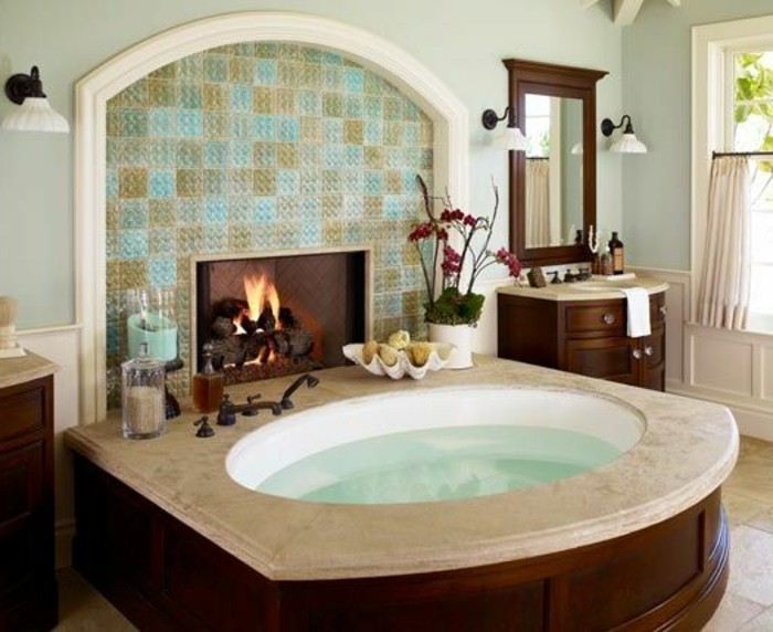 Modern-Kamin-badezimmer