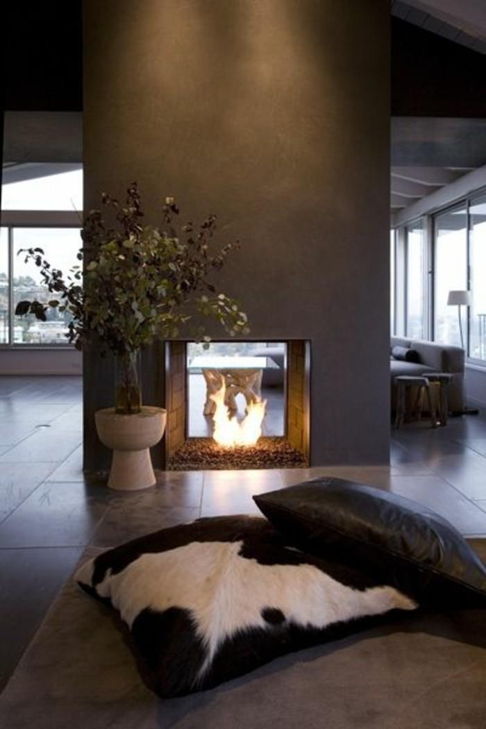 wohnzimmer kamin ethanol:Raumteilen Kamin einbauen? Die Gemütlichkeit und Wärme im Raum sind