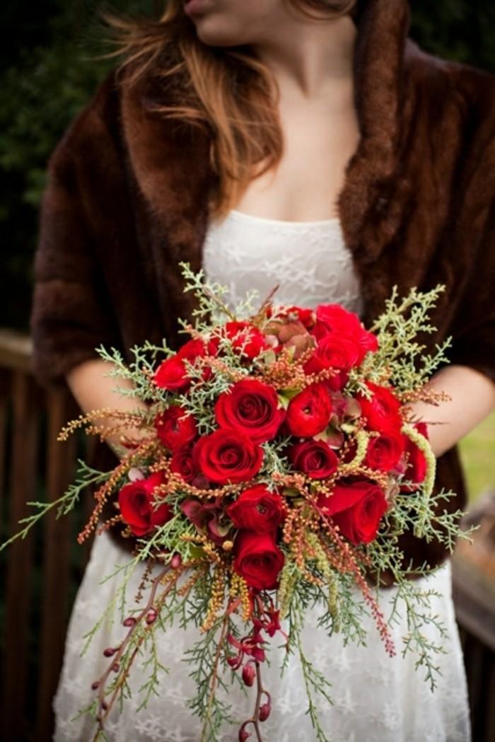 Rosen strauß-braun-hochzeitstag