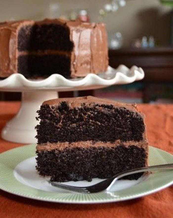 Schokoladen-kuchen-backen-schwarz-braun