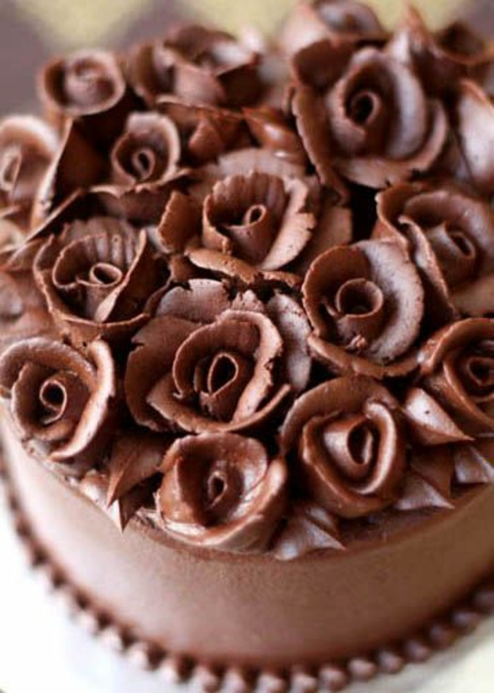 Chocolate Rose Cake Decoration