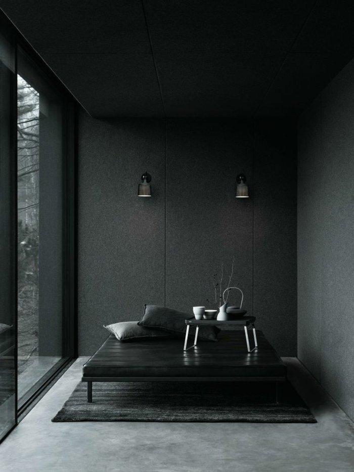 Wandfarbe-Anthrazit-schlichtes-modernes-Interieur